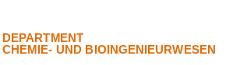 Department Chemie- und Bioingenieurwesen